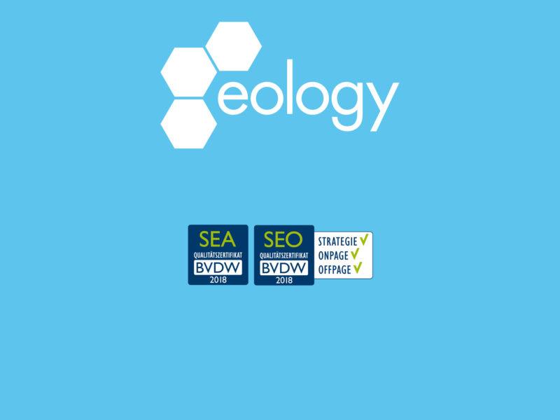 eology erhält BVDW Qualitätszertifikate SEO & SEA 2018