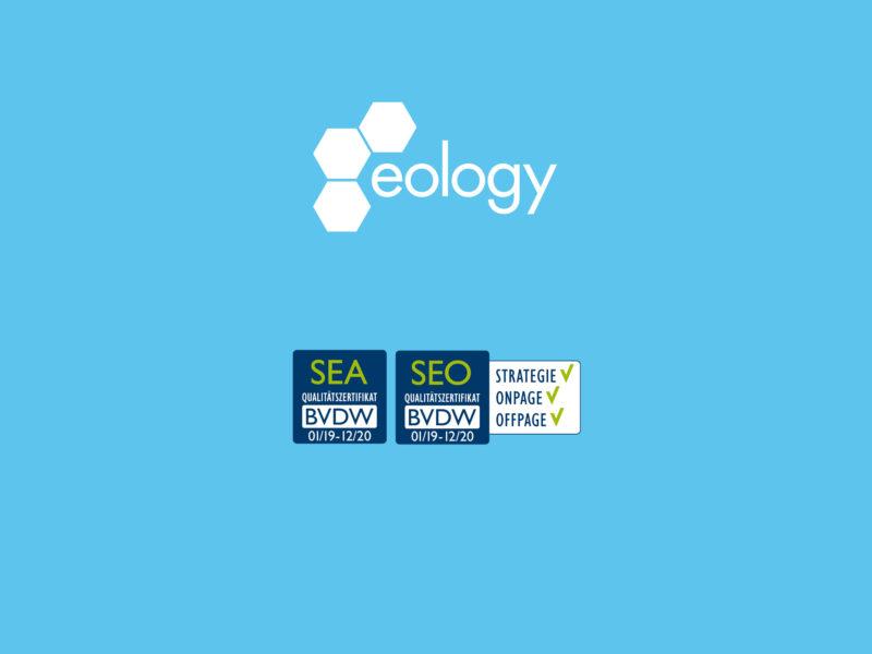eology erneut mit Qualitätszertifikaten des BVDW ausgezeichnet