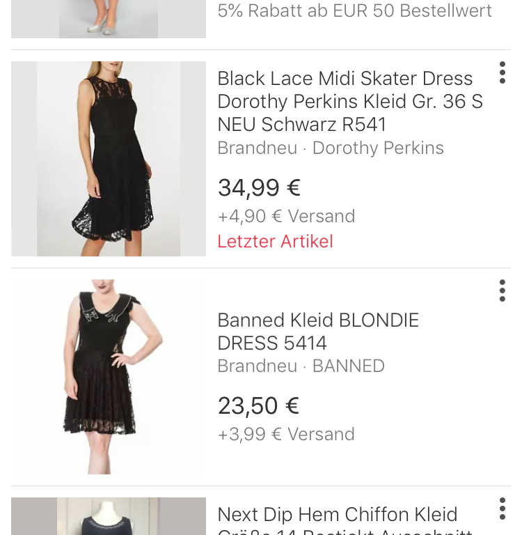 Visuelle Suche auf Ebay