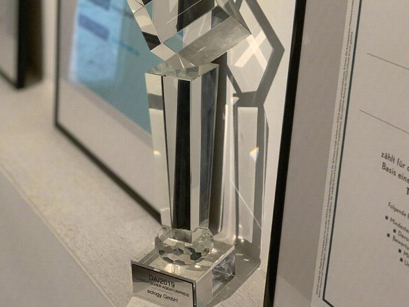 Da ist das Ding – eology gewinnt Deutschen Agenturpreis 2019