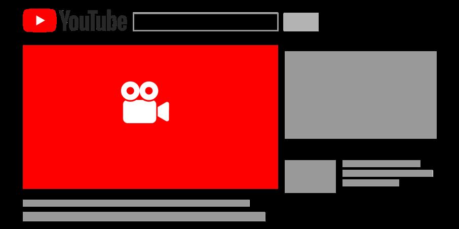 Die Grafik zeigt eine schematische Platzierung einer Bumper-Ad. Diese wird vor dem Abspielen des Videos angezeigt, ist nicht überspringbar und darf maximal 6 Sekunden lang sein.