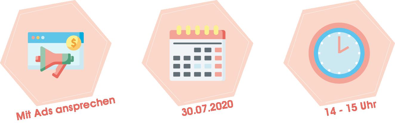 Webinar Die Zielgruppe über Ads ansprechen am 30.07.2020