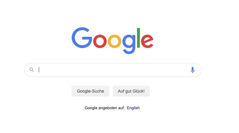 Die Suchmaske der Google-Suche