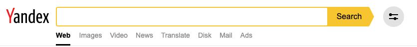 Veränderte Suchmaske von Yandex.Search in den Suchergebnissen