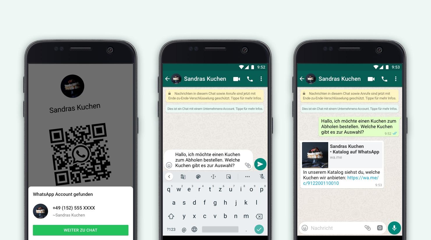 So einfach geht's – Über einen QR-Code kannst Du direkt mit dem Unternehmen chatten, ©WhatsApp
