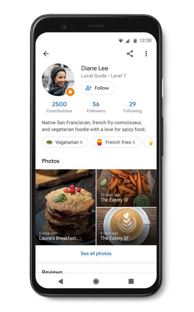 So sehen die Profile der Google Maps-Nutzer in Zukunft aus, © Google