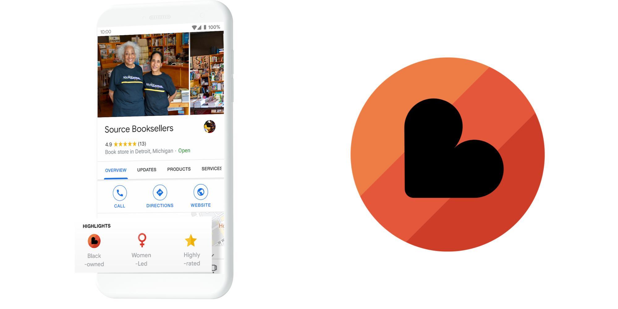 Das neue Logo für Black-owned Businesses findest Du zukünftig in den Highlights des jeweiligen Google My Business-Eintrags. Bei dem Logo handelt es sich um einen Kreis mit drei Streifen in unterschiedlichen Orange-Tönen und einem schwarzen Herz in der Mitte.