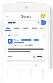 Auslieferung von App-Kampagnen im Google Suchnetzwerk, © Google