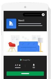 Auslieferung von App-Kampagnen in Google Play, © Google