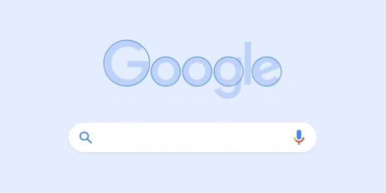 Zu sehen ist das Google Logo und die Suchleiste. Im Logo selbst wurden die runden, charakteristischen Formen durch Kreise gekennzeichnet. Google möchte auch zukünftig mehr auf wiederkehrende Kreise im Layout setzen, um den eigenen Wiedererkennungswert noch zu steigern.