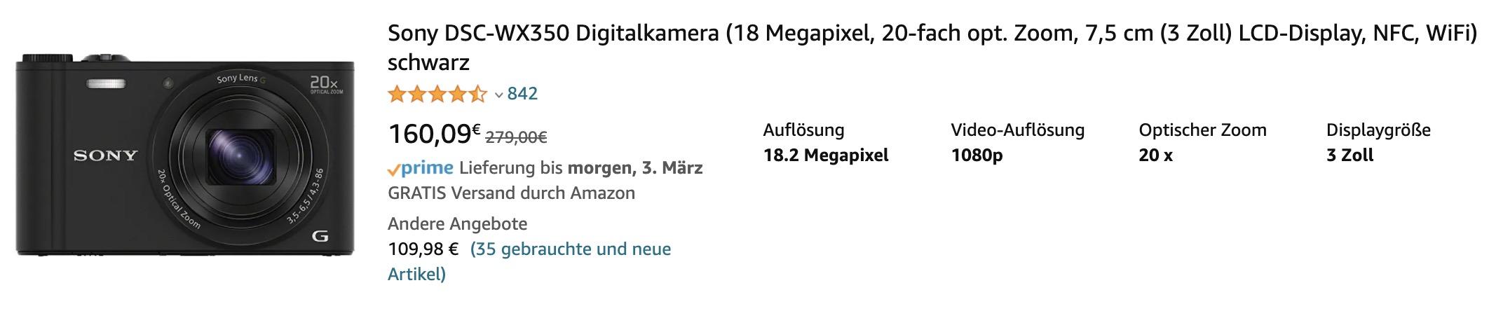 Die Thumbnails auf den Amazon-Kategorieseiten zeigen eine Vorschau auf das Produkt. Hier ist eine Höhe von 150 Pixel Standard.