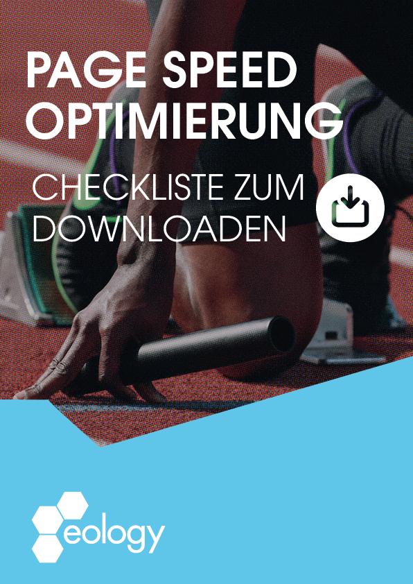 Durch einen Klick auf das Bild gelangst Du zu unserer Checkliste zum Thema PageSpeed Optimierung.