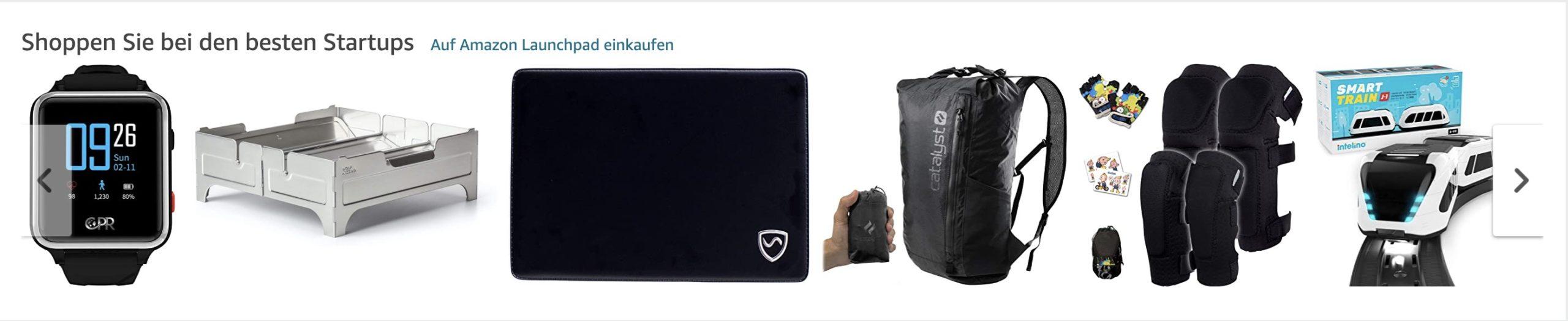 Der Screenshot zeigt einen Ausschnitt der Amazon-Startseite. Hier werden Produkte mit einem Thumbnail mit 200 Pixel-Höhe angezeigt.