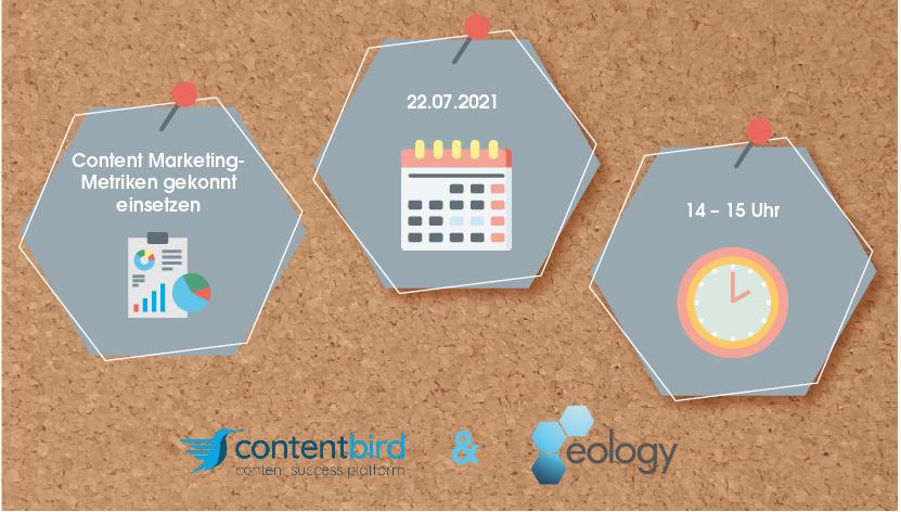 """Webinar """"In der Praxis: Content Marketing-Metriken gekonnt einsetzen"""" am 22.07.2021 um 14 Uhr"""