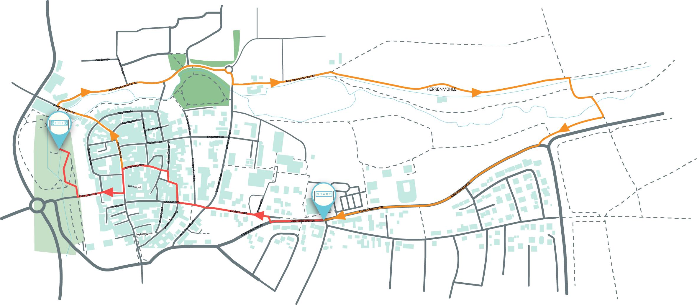 Strecke des eoRuns 2021