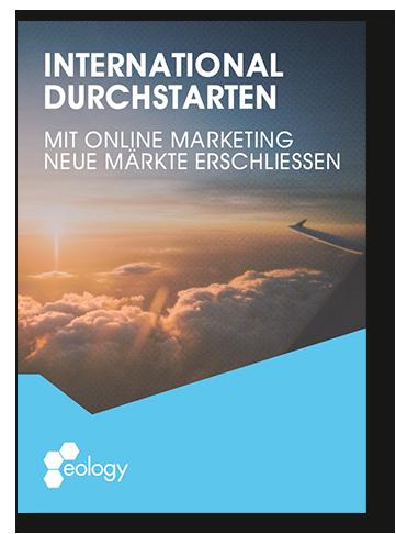 """Titelseite des Whitepapers """"International durchstarten – Mit Online Marketing neue Märkte erschließen"""""""