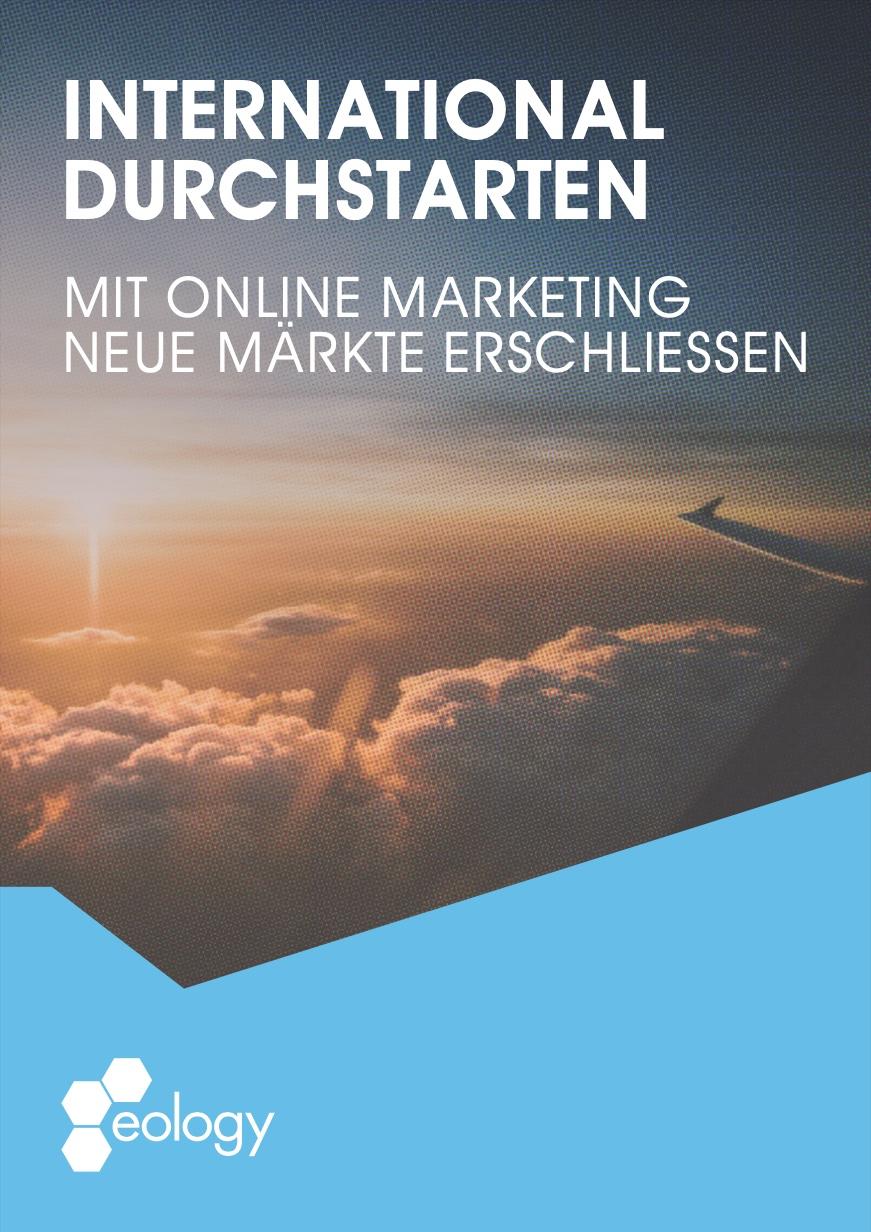 """Titelbild des Whitepapers """"International durchstarten –Mit Online Marketing neue Märkte erschließen"""""""