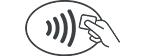 Erforderliches NFC-Symbol für Google Pay Zahlungen
