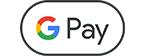 Rundes Google Pay-Symbol das für eine kontaktlose Zahlung mit Google Pay erforderlich ist